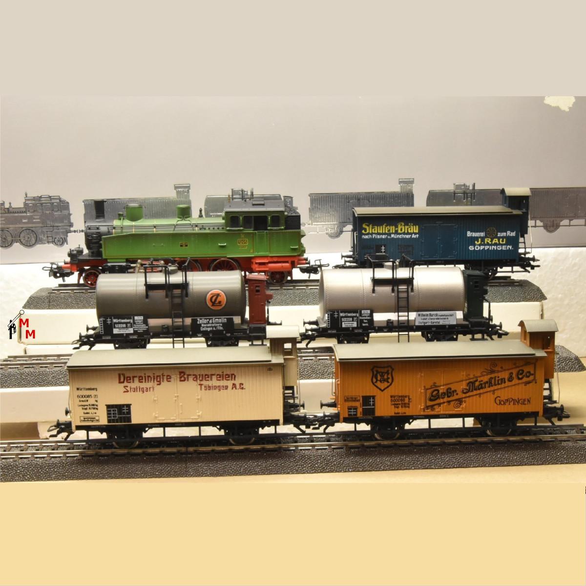 """Märklin 2857 """"Württembergischer Güterzug"""", digital mit Dec. 6090, (20415 )"""