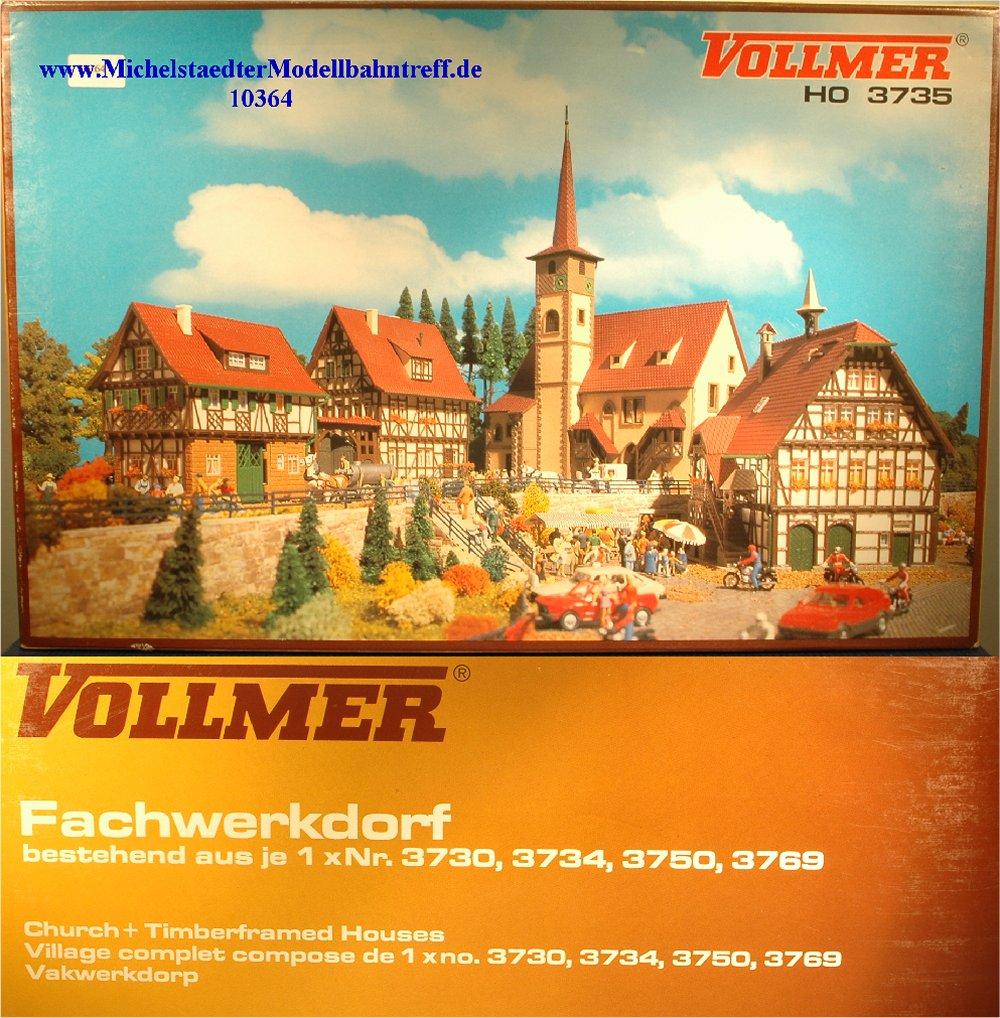 """(Neu) Vollmer 3735 Bausatz """"Fachwerkdorf"""", (10364)"""