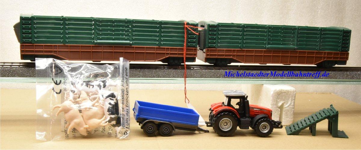 (Neu) Märklin 29308 Nur Güterwagen und Zubehör aus My World Startset Landwirtschaft,