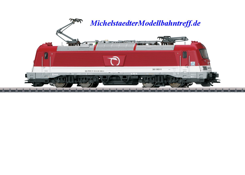 (Neu) Märklin 36204 E-Lok BR 381 (Skoda Typ 109E) der Slowakischen Eisenbahngesellschaft (ZSSK), Ep.VI,