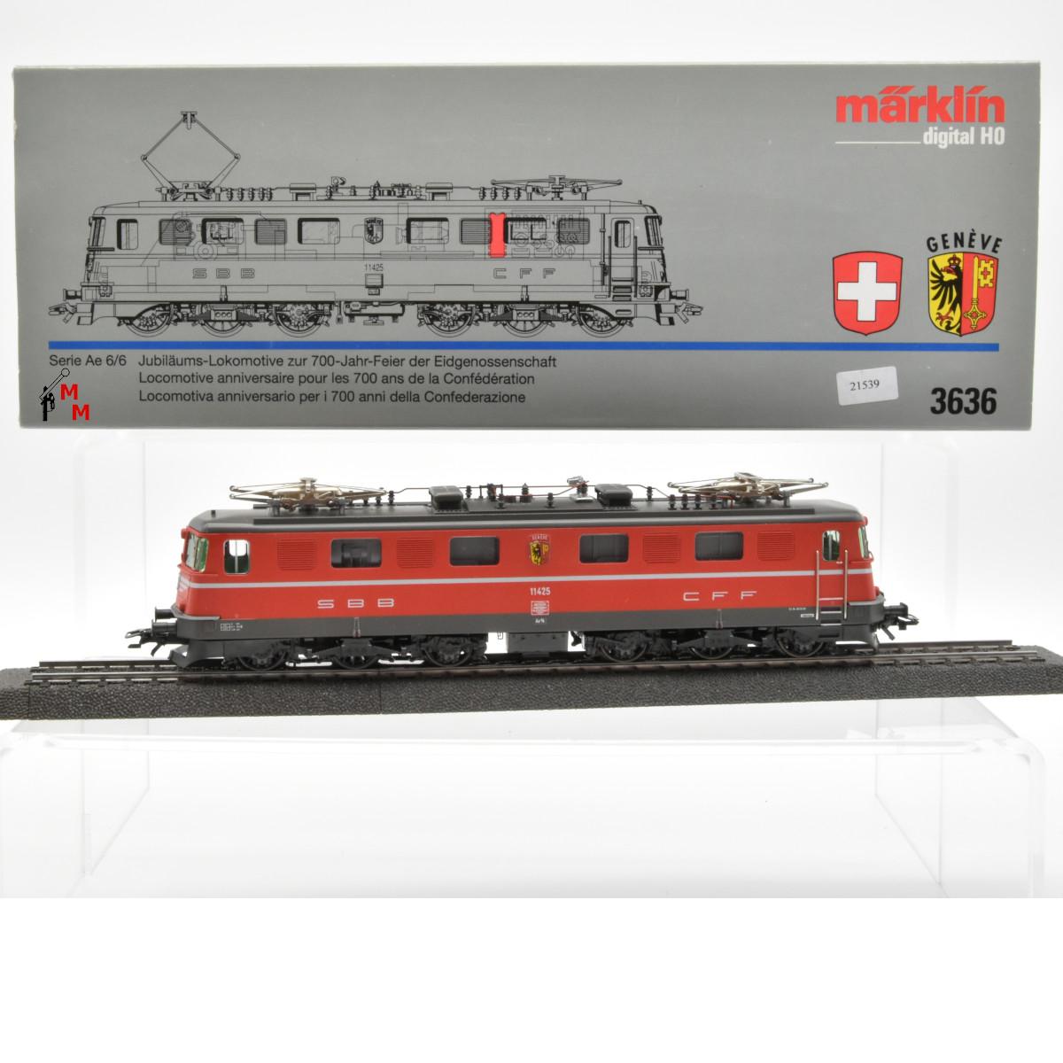 "Märklin 3636 E-Lok Serie Ae 6/6 SBB, ""700 Jahr Feier der Eidgenossen"", (21539)"