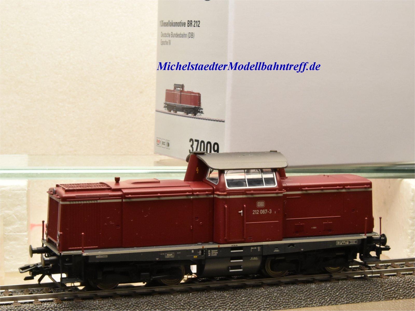 (Neu) Märklin 37009 Diesellok BR 212, purpurrot, DB, Ep.IV,