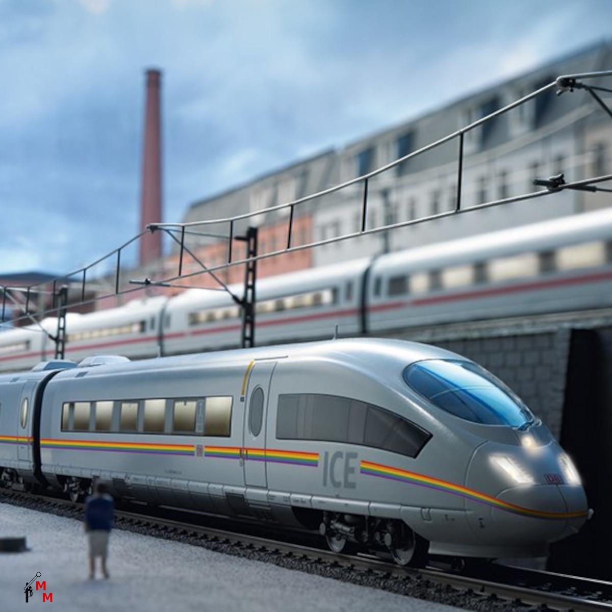 (Neu) Märklin 37784 Triebwagenzug ICE 3 railbow,