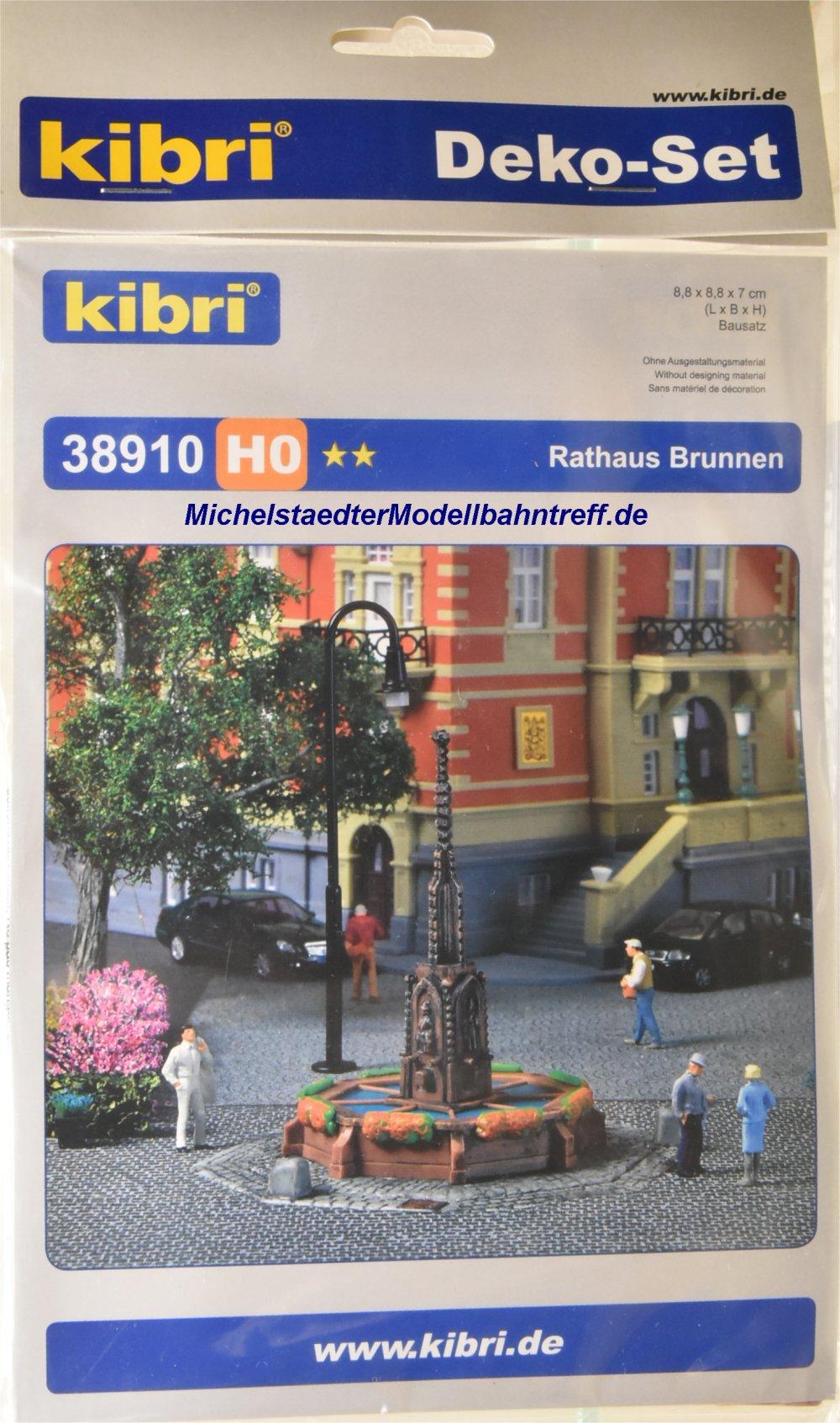 (Neu) Kibri 38910 Bausatz H0, Rathaus Brunnen,