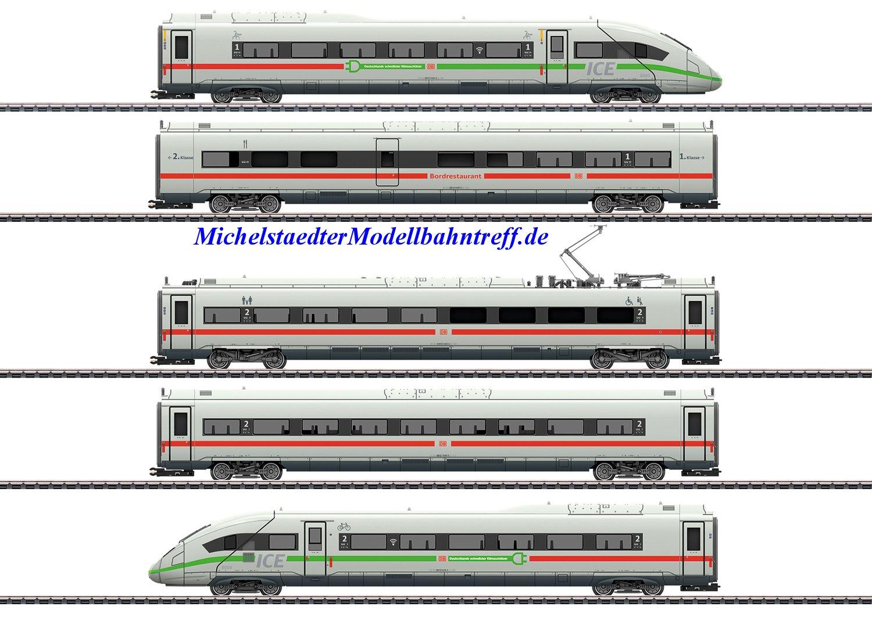 """(Neu) Märklin 39716 Triebwagenzug ICE 4, """"Klimaschützer"""", BR412/812, DB AG, Ep.VI,"""