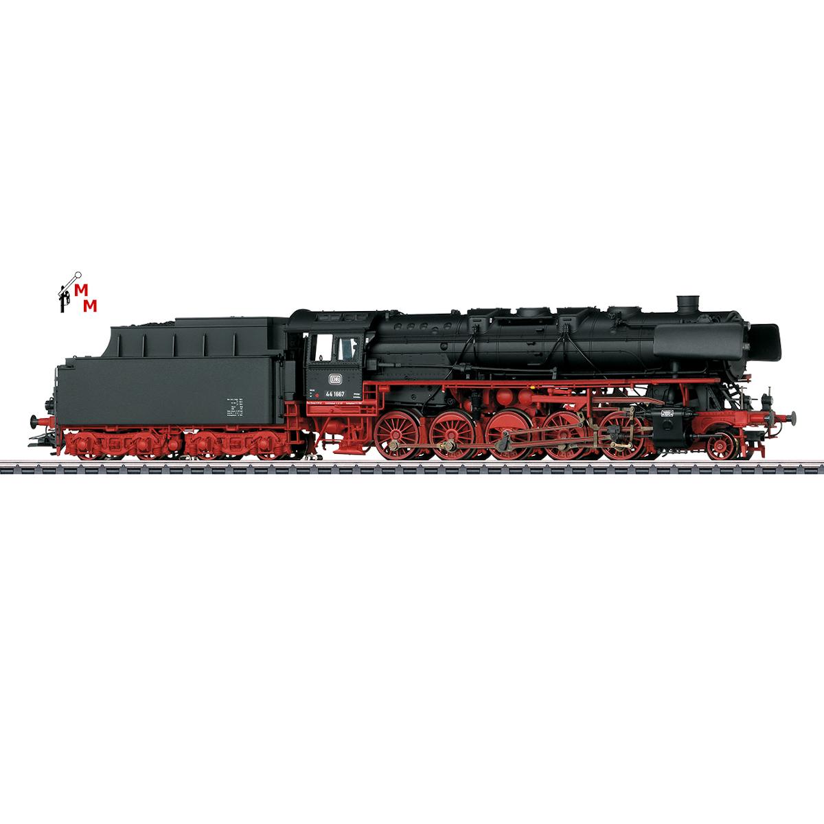 (Neu) Märklin 39883 Dampflok BR 44 mit Kohle-Tender, DB, Ep.III, ohne Sound,