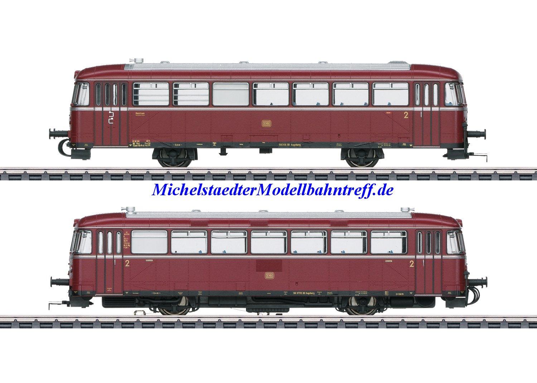 (Neu) Märklin 39978 Schienenbus VT 98.9 mit Steuerwagen, DB, Ep.III,