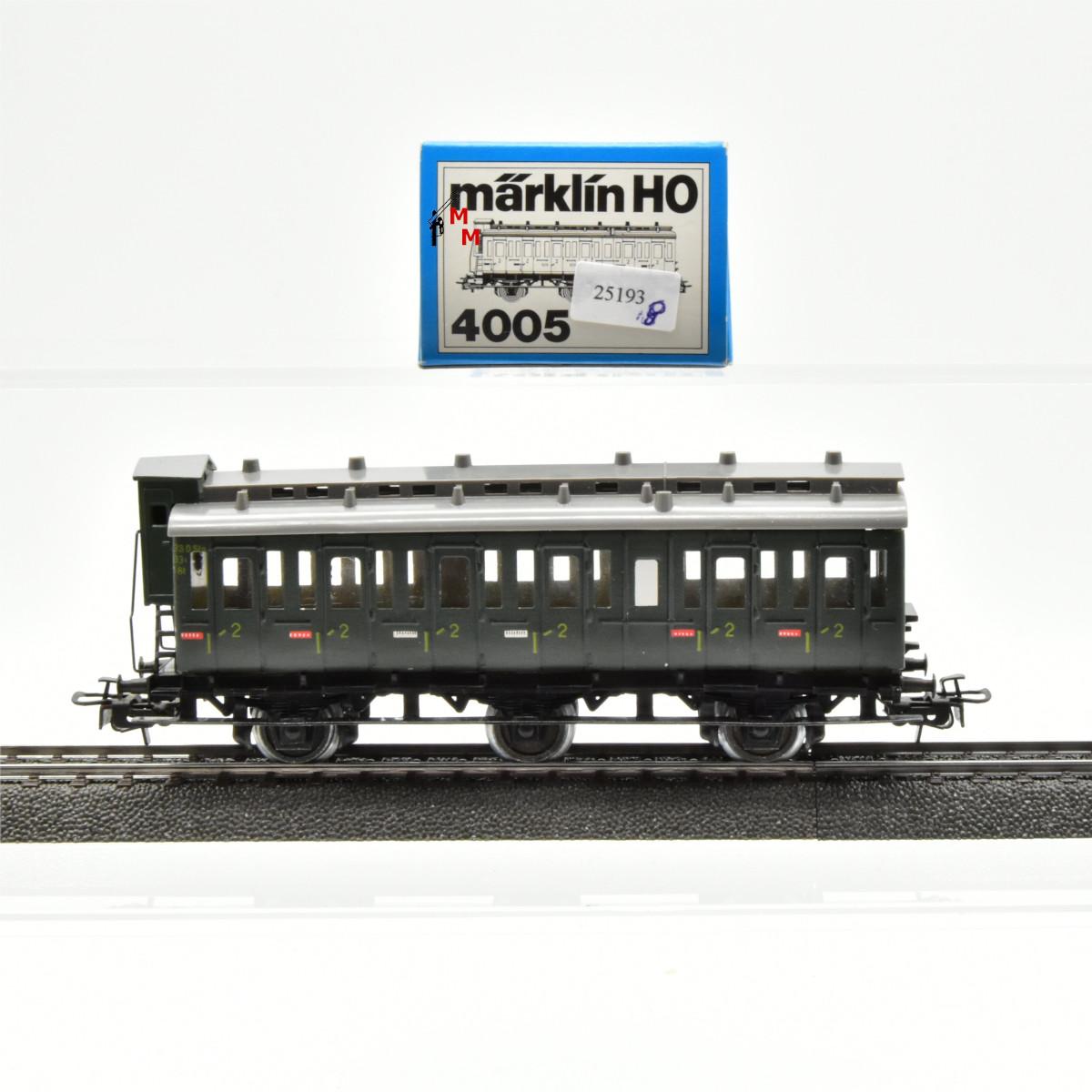 Märklin 4005.8 Abteilwagen mit Bremserhaus 2. Kl., (25193)