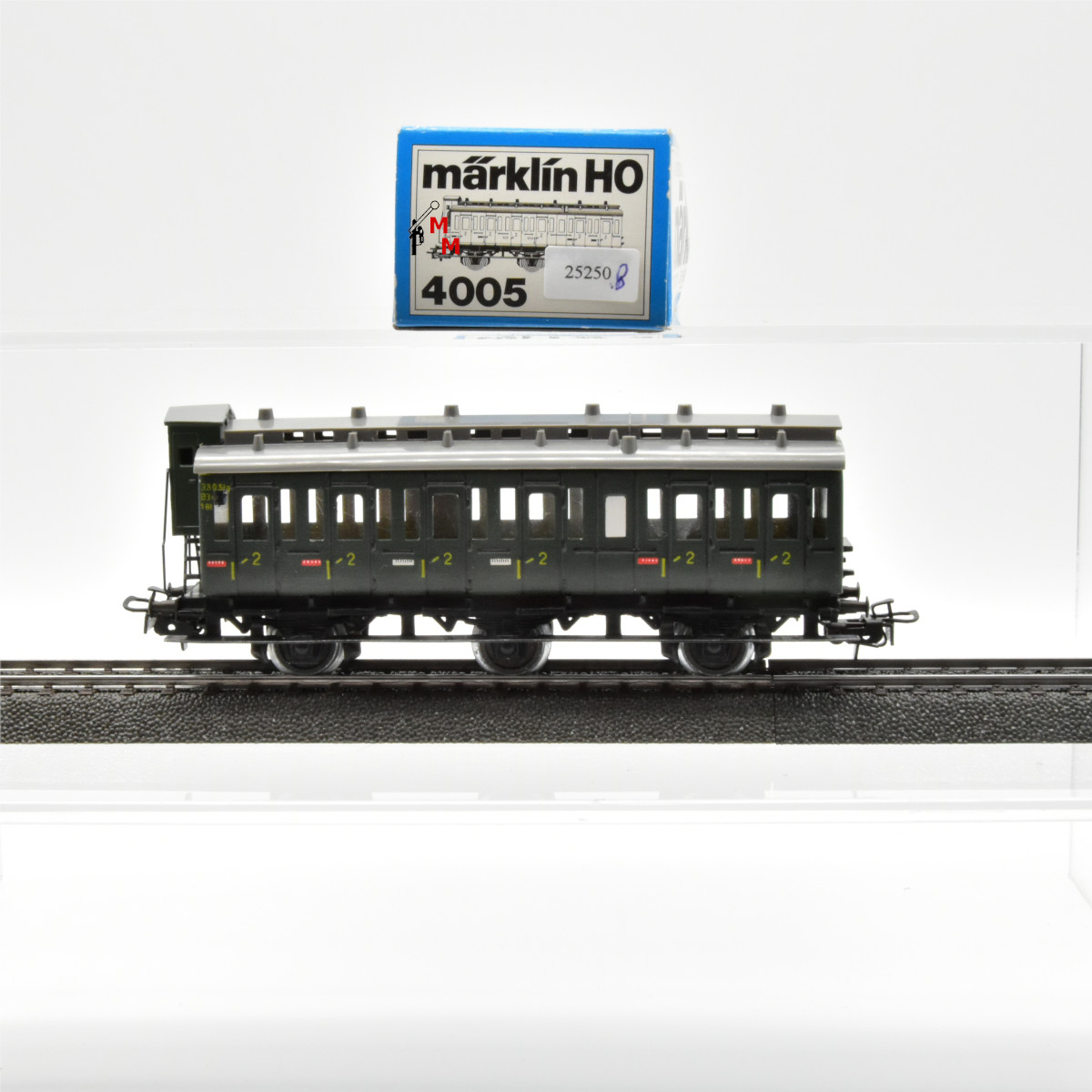 Märklin 4005.8 Abteilwagen mit Bremserhaus 2. Kl., (25250)
