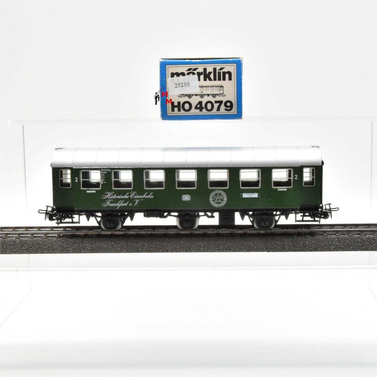 """Märklin 4079.10 Umbauwagen 2. Klasse, DB, """"Historische Eisenbahn Frankfurt e.V"""", (25210)"""