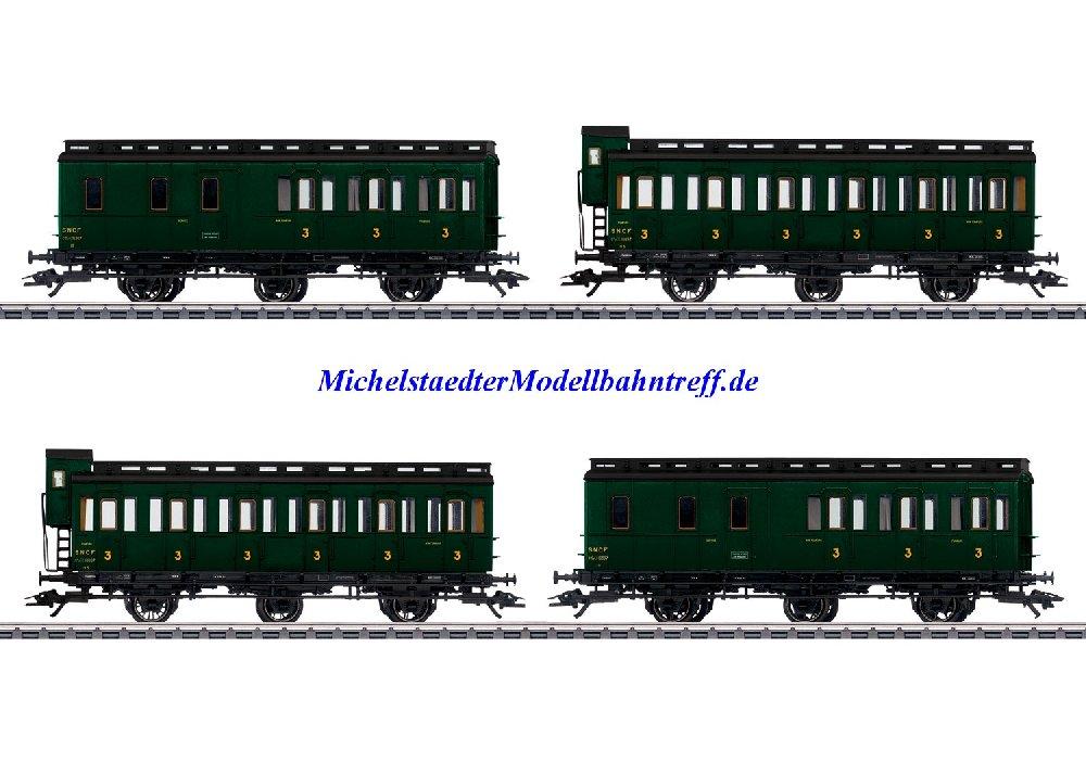 (Neu) Märklin 42042 Abteilwagenset zur Serie 130 TB,SNCF, Ep.III,