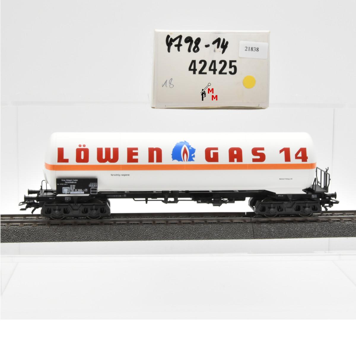 """Märklin 42425 Gas-Kesselwagen """"Löwen Gas 14"""", (21838)"""