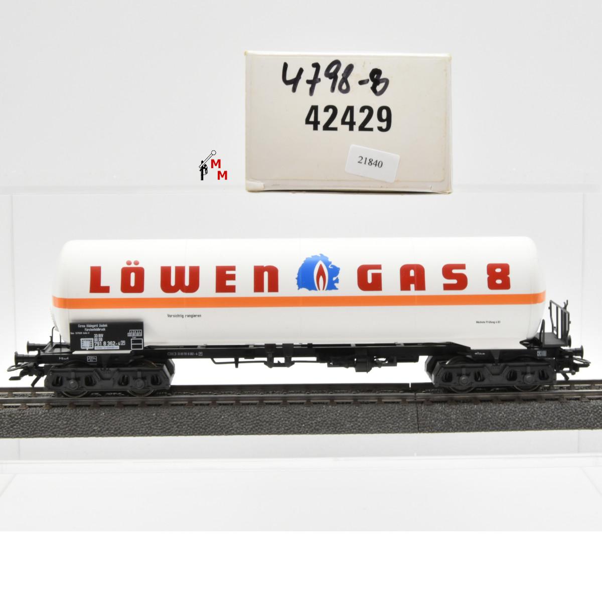 """Märklin 42429 Gas-Kesselwagen """"Löwen Gas 8"""", (21840)"""