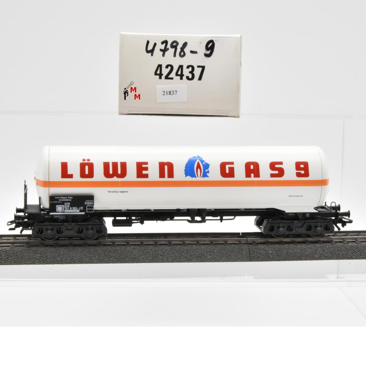 """Märklin 42437 Gas-Kesselwagen """"Löwen Gas 9"""", (21837)"""