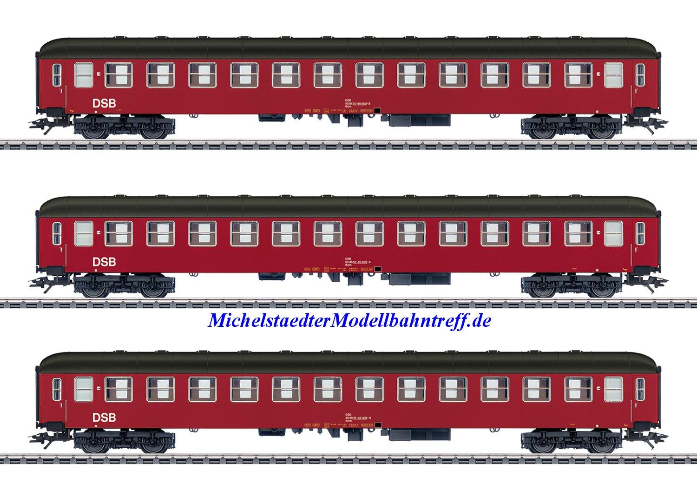 (Neu) Märklin 42694 Reisezugwagen-Set, 3 Wagen, DSB, Ep.IV,