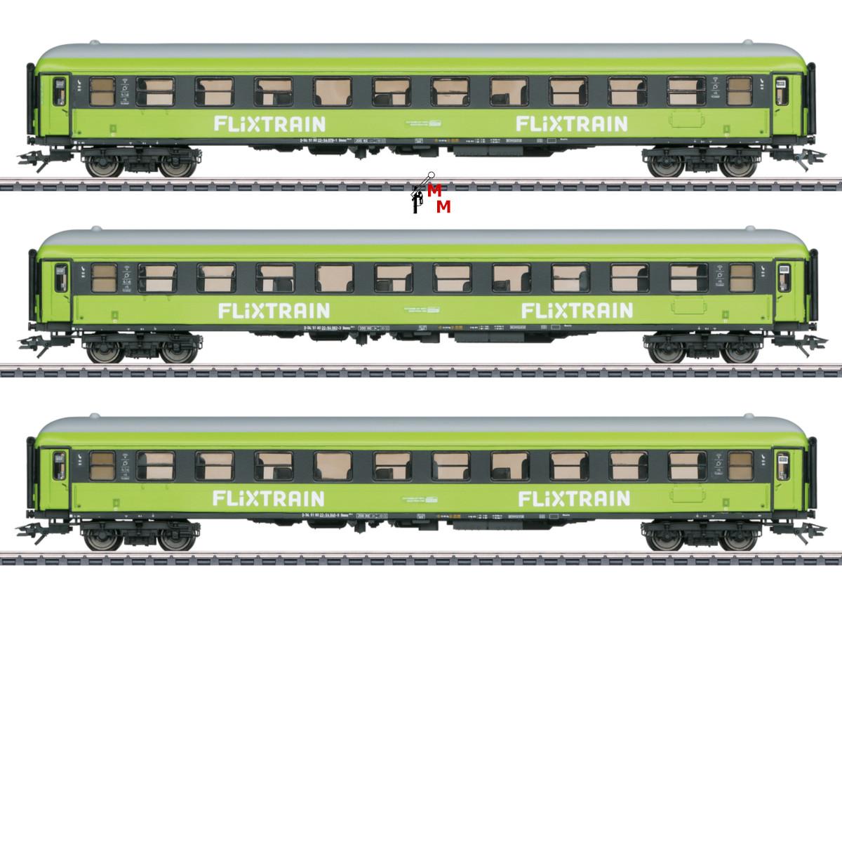 """(Neu) Märklin MHI 42955 Schnellzugwagen-Set """"Flixtrain"""","""