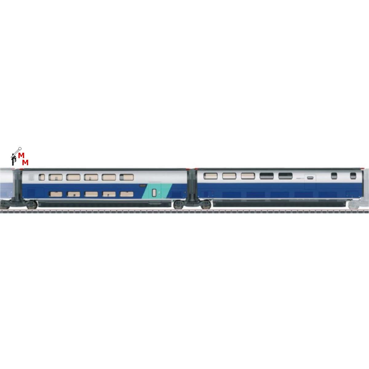 (Neu) Märklin 43443 Ergänzungswagen-Set -3- zum  TGV Duplex,