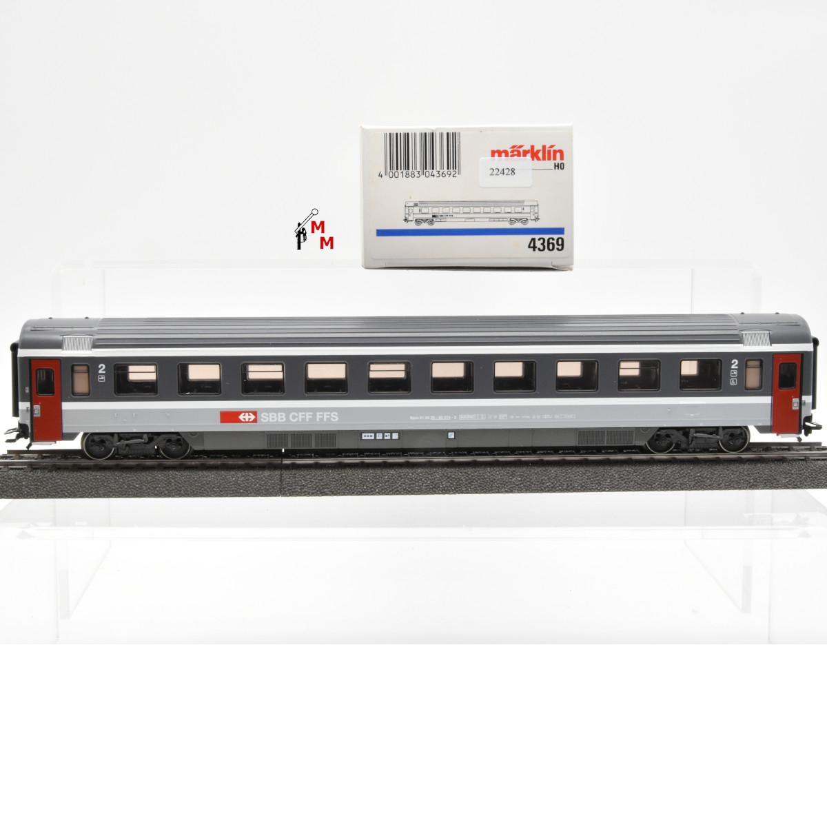 Märklin 4369.1 EuroCity-Wagen 2.Kl., SBB, (22428)