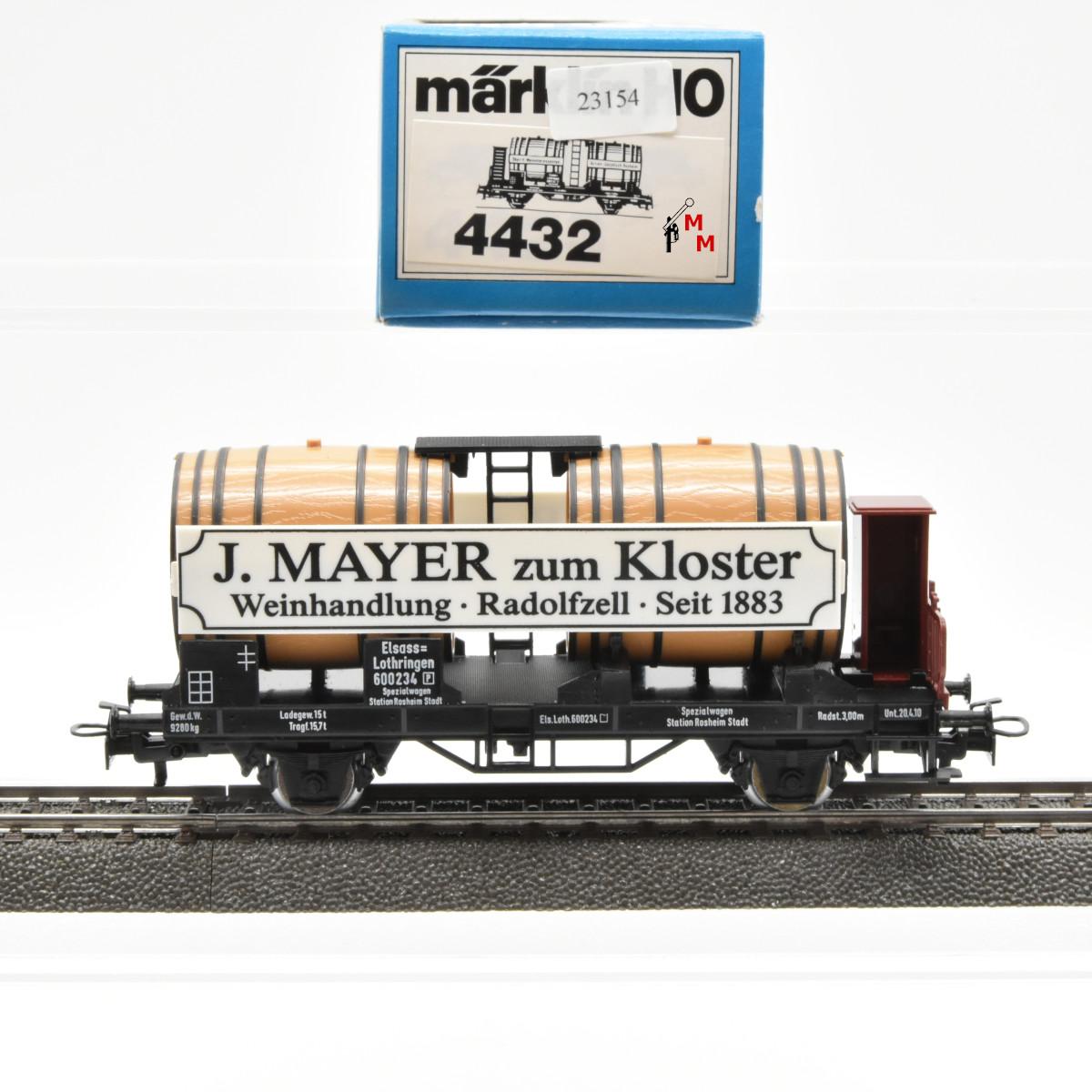 "Märklin 4432/1883 Weinwagen ""J. Mayer zum Kloster""...,(23154)"