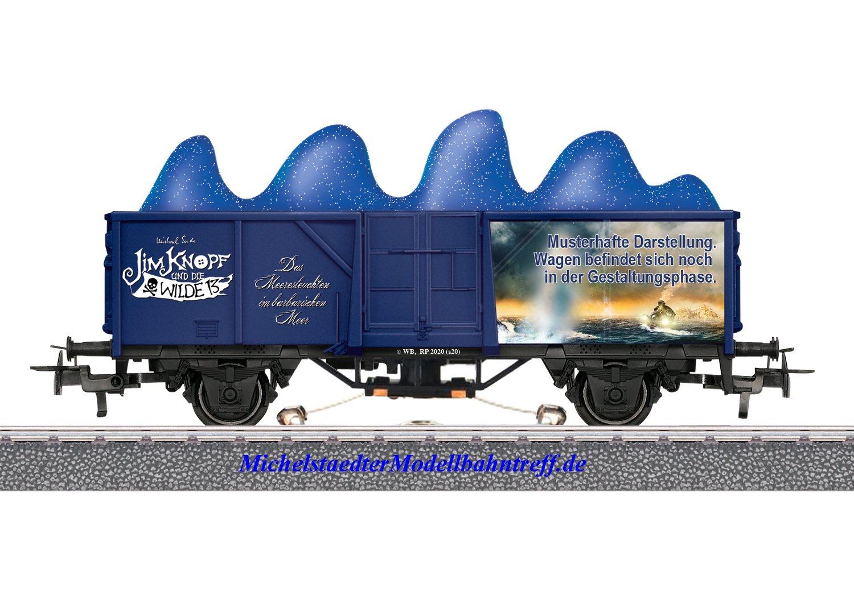 """(Neu) Märklin 44819 Offener Güterwagen """"Meeresleuchten"""","""