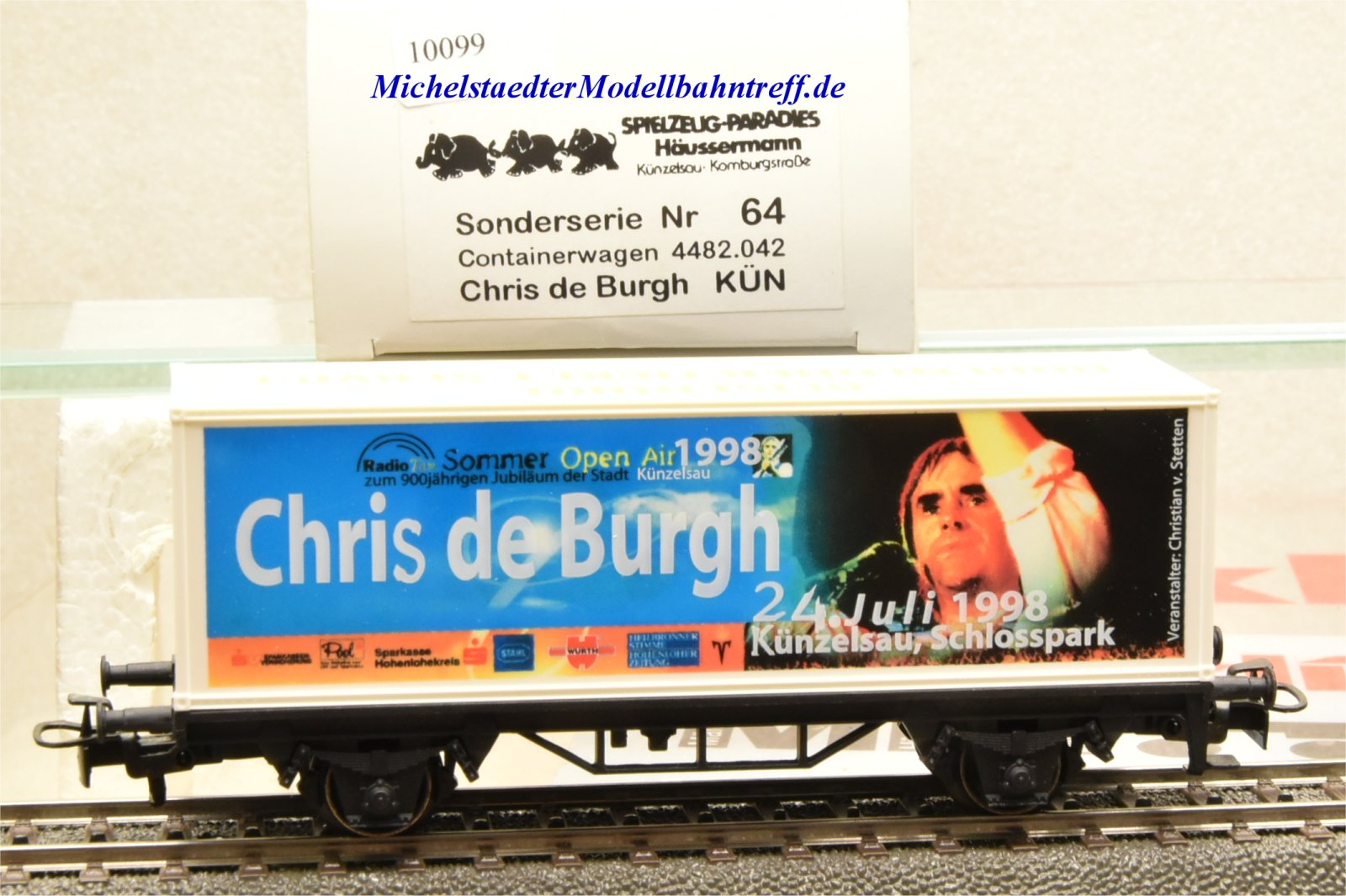 "Märklin 4482.042 (4481/98718) Containerwagen ""Chris de Burgh"", (10099)"