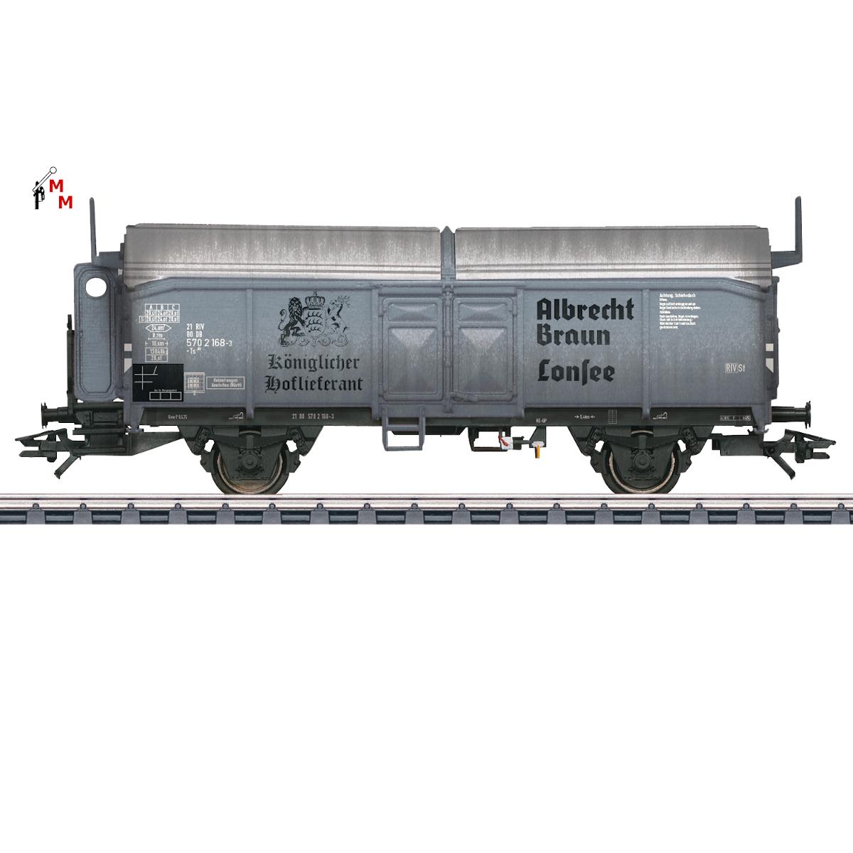 (Neu) Märklin 45087 Schiebedachwagen DB, Ep.III,