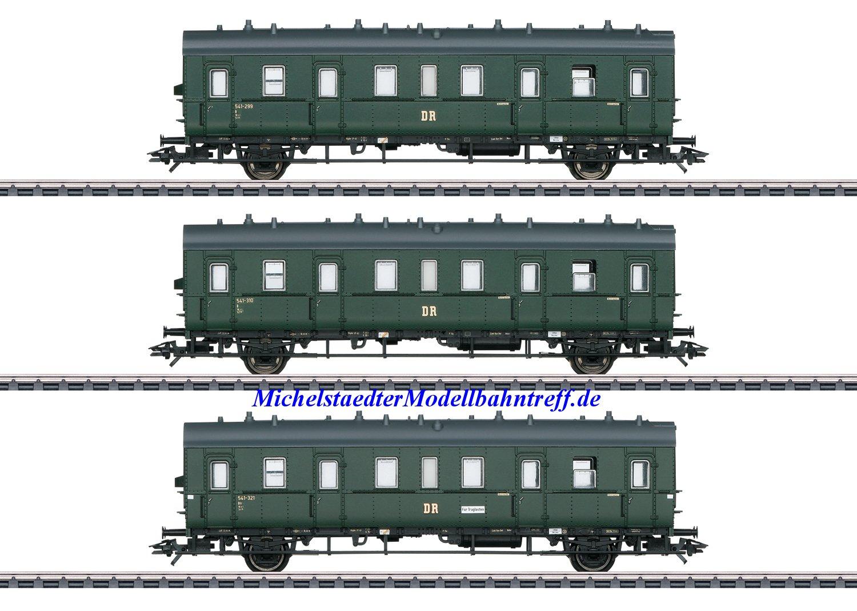 (Neu) Märklin 46395 Personenwagen-Set, 3 Wagen, DR/DDR, Ep.III,