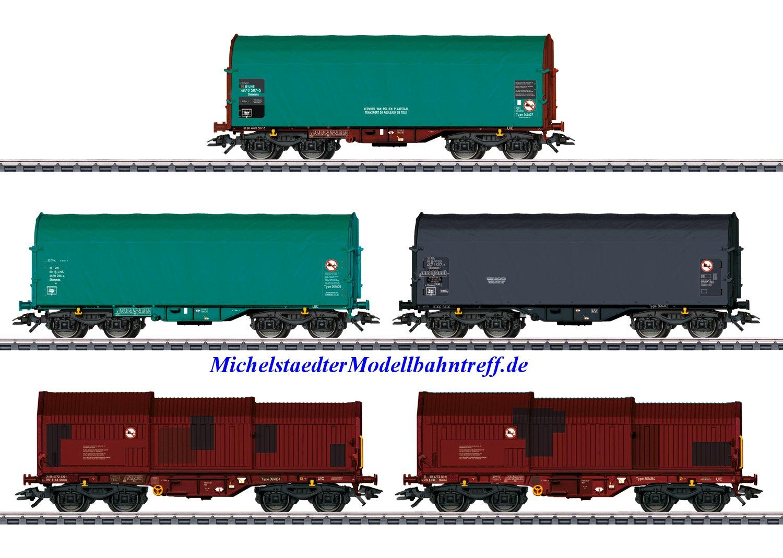 (Neu) Märklin 46875 Verschiedene Güterwagen der SNCB, Ep.VI,