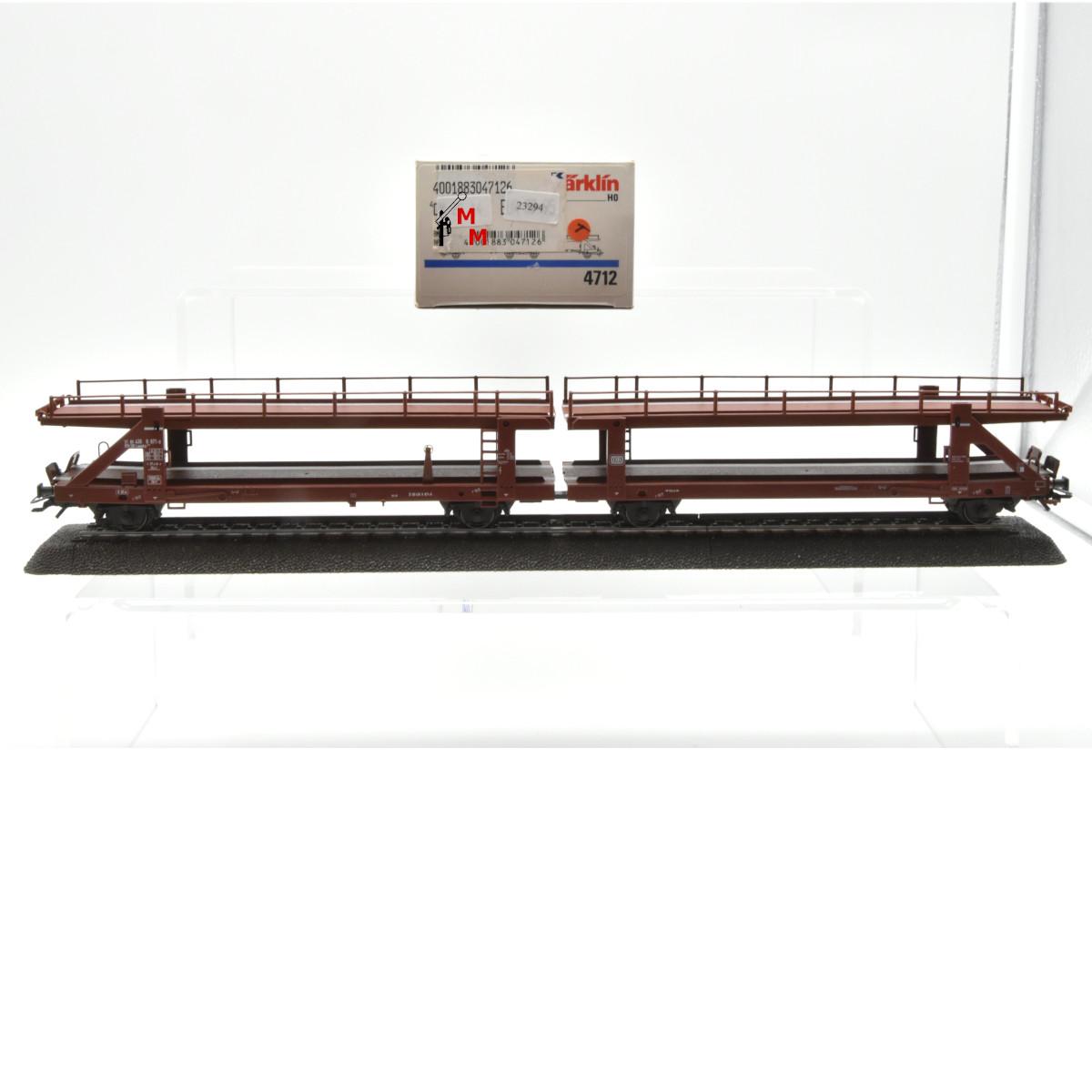 Märklin 4712 Doppel-Autotransportwagen unbeladen, (23294)