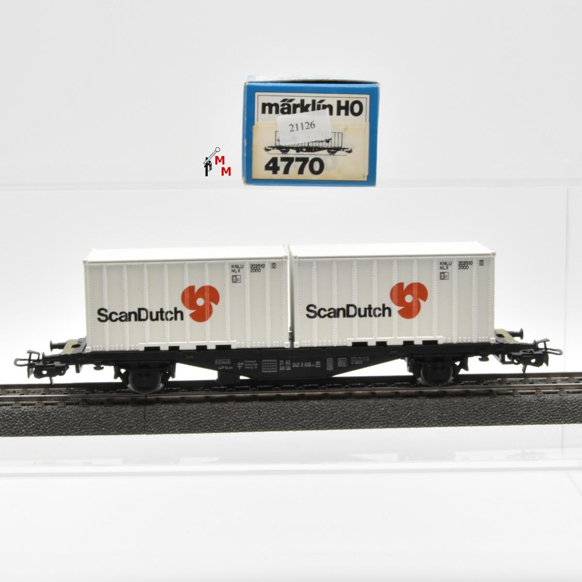 Märklin 4770 Containerwagen Scan Dutch, (21126)