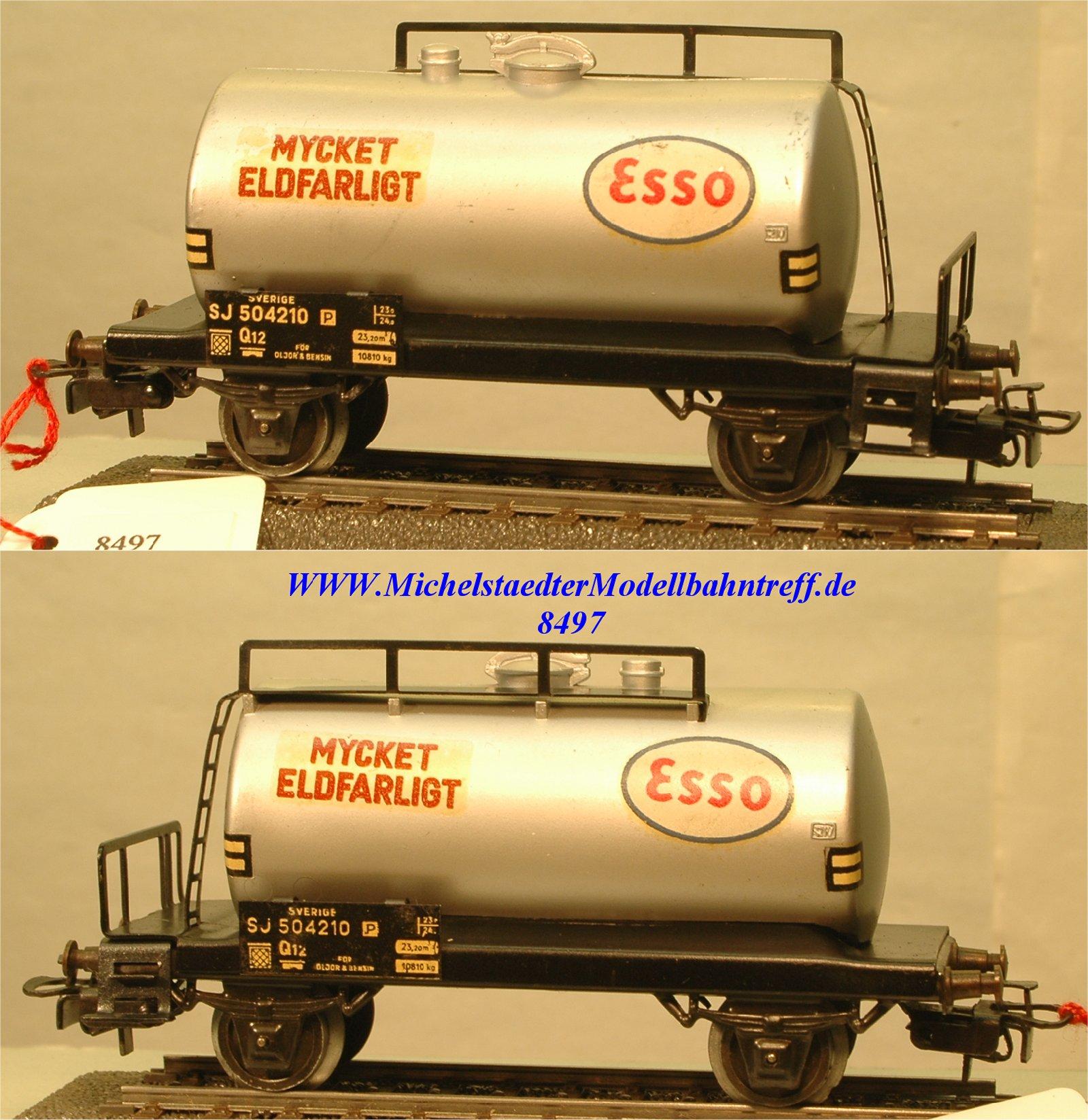 """Märklin 4524.2 Kesselwagen der SJ """"Mycket Eldfarligt"""", (8497)"""
