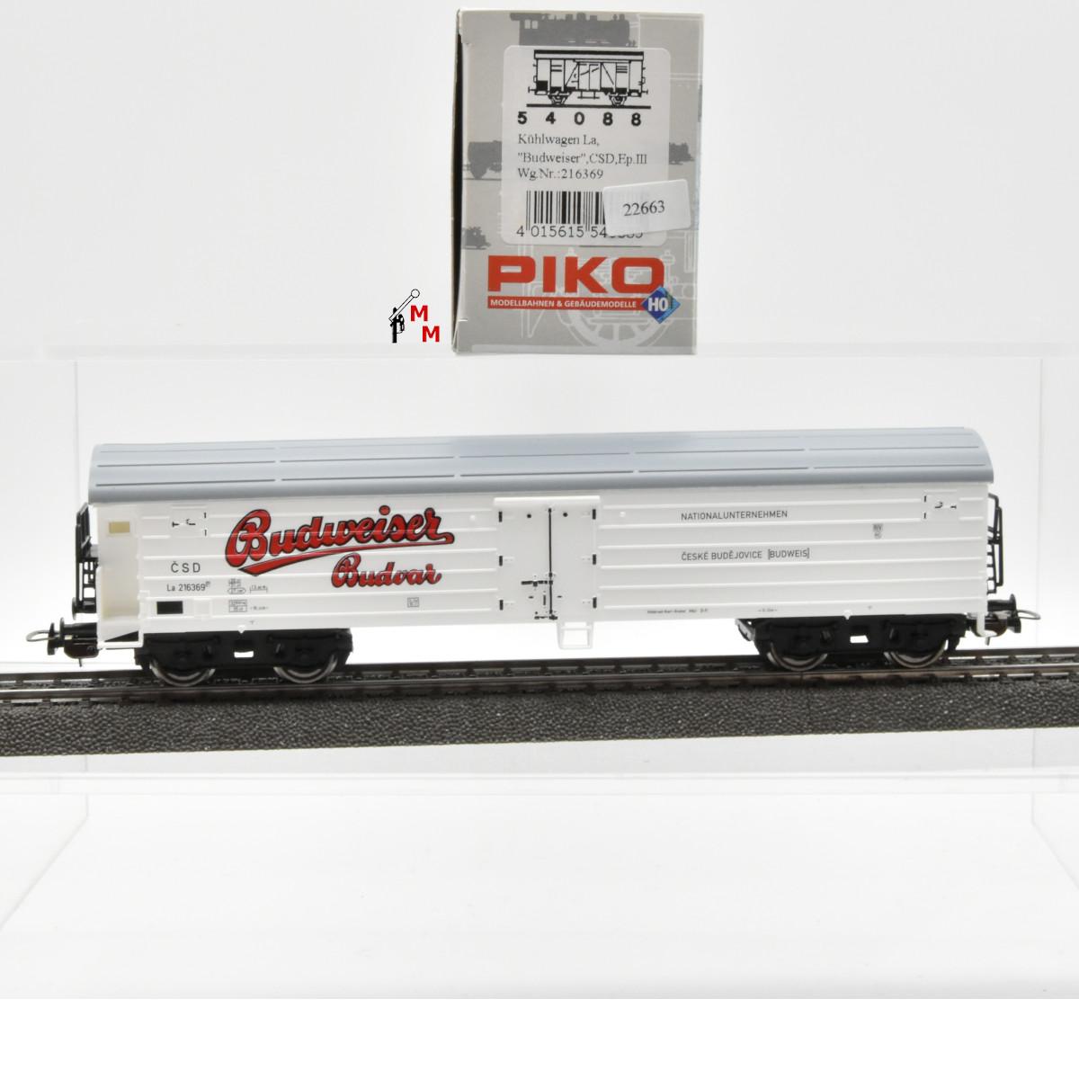 """Piko 54088 Kühlwagen """"Budweiser"""", CSD, (22663)"""
