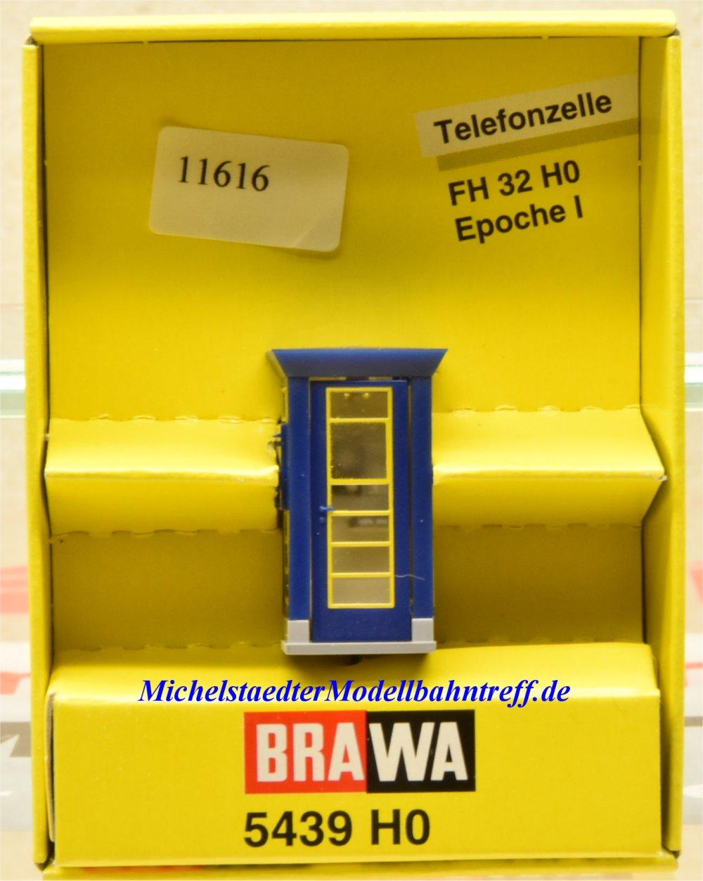 Blau H0 BRAWA 5439 Telefonzelle Typ FH 32