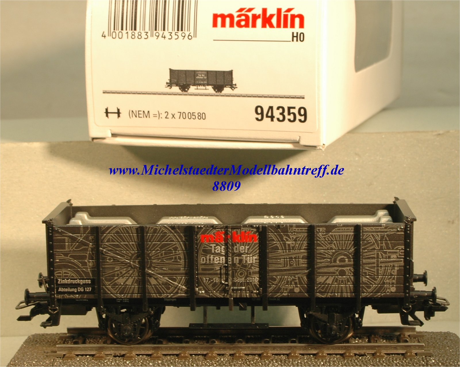 """Märklin 94359 Sonderwagen """"Tag der offenen Tür 2010"""", (8809)"""