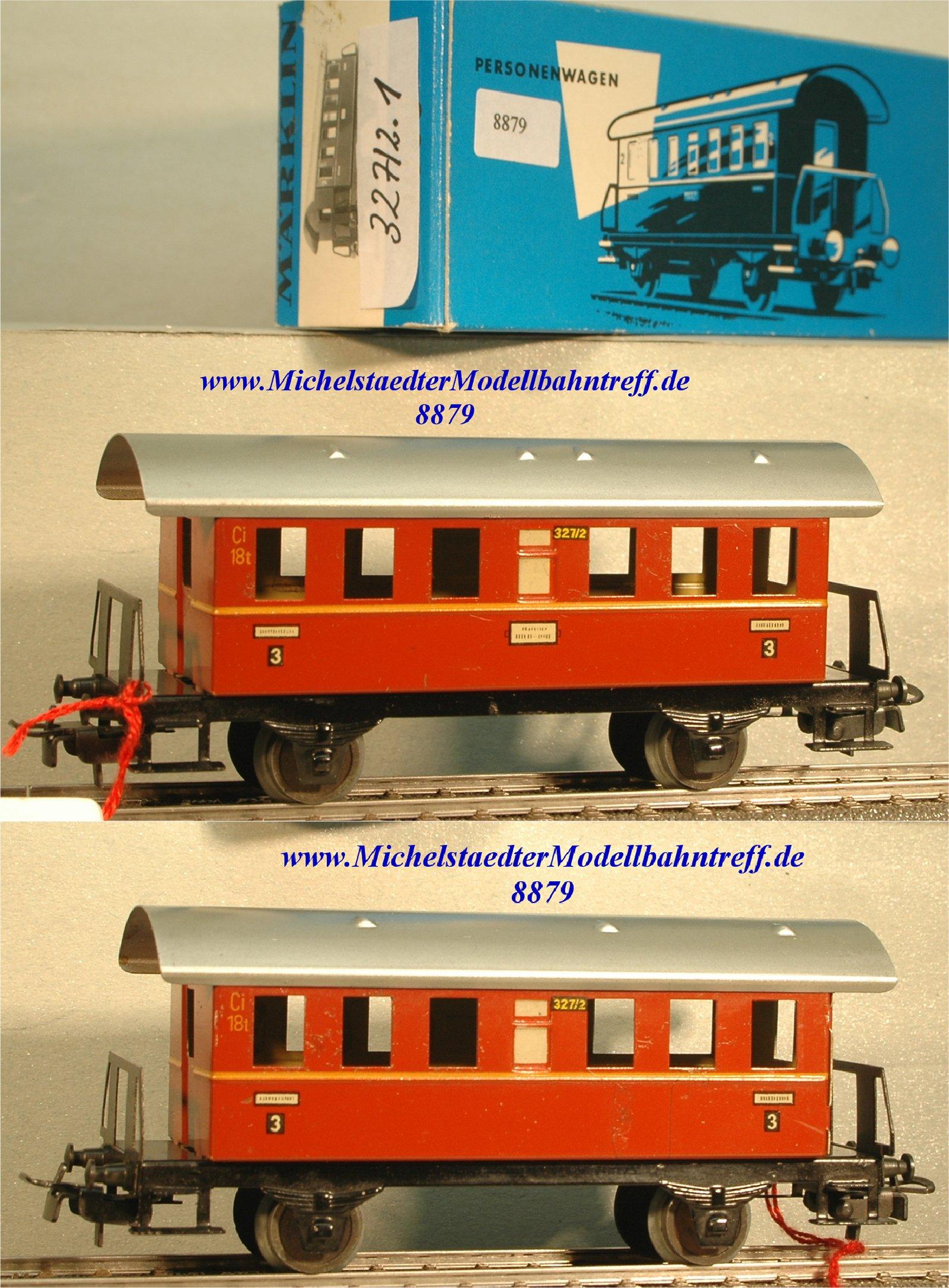 Märklin 327/2.1 Personenwagen, braunrot, 3.Kl., (8879)