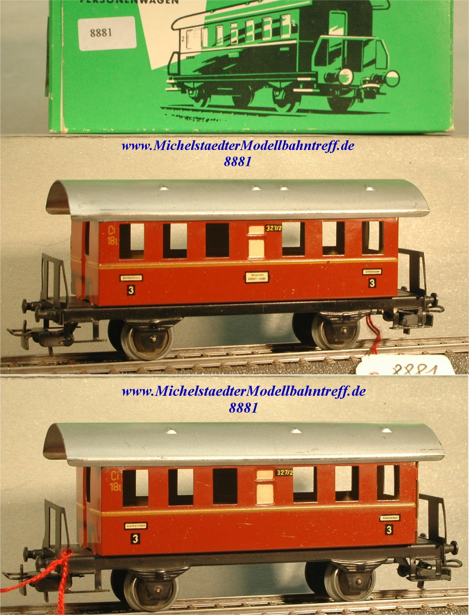 Märklin 327/2.2 Personenwagen braunrot, 3.Kl., (8881)