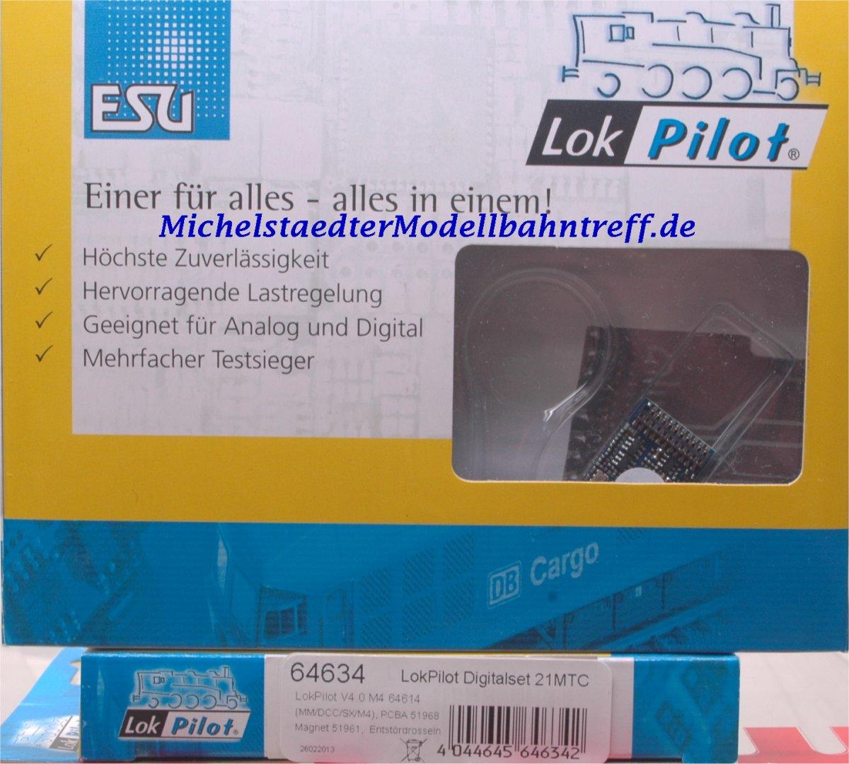 (Neu) ESU 64634 LokPilot Digital-Set 2, V.4 M4,