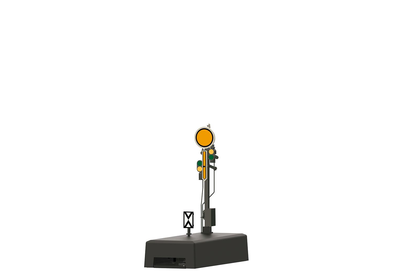 (Neu) Märklin 70382 Form-Vorsignal mit grauem Mast,