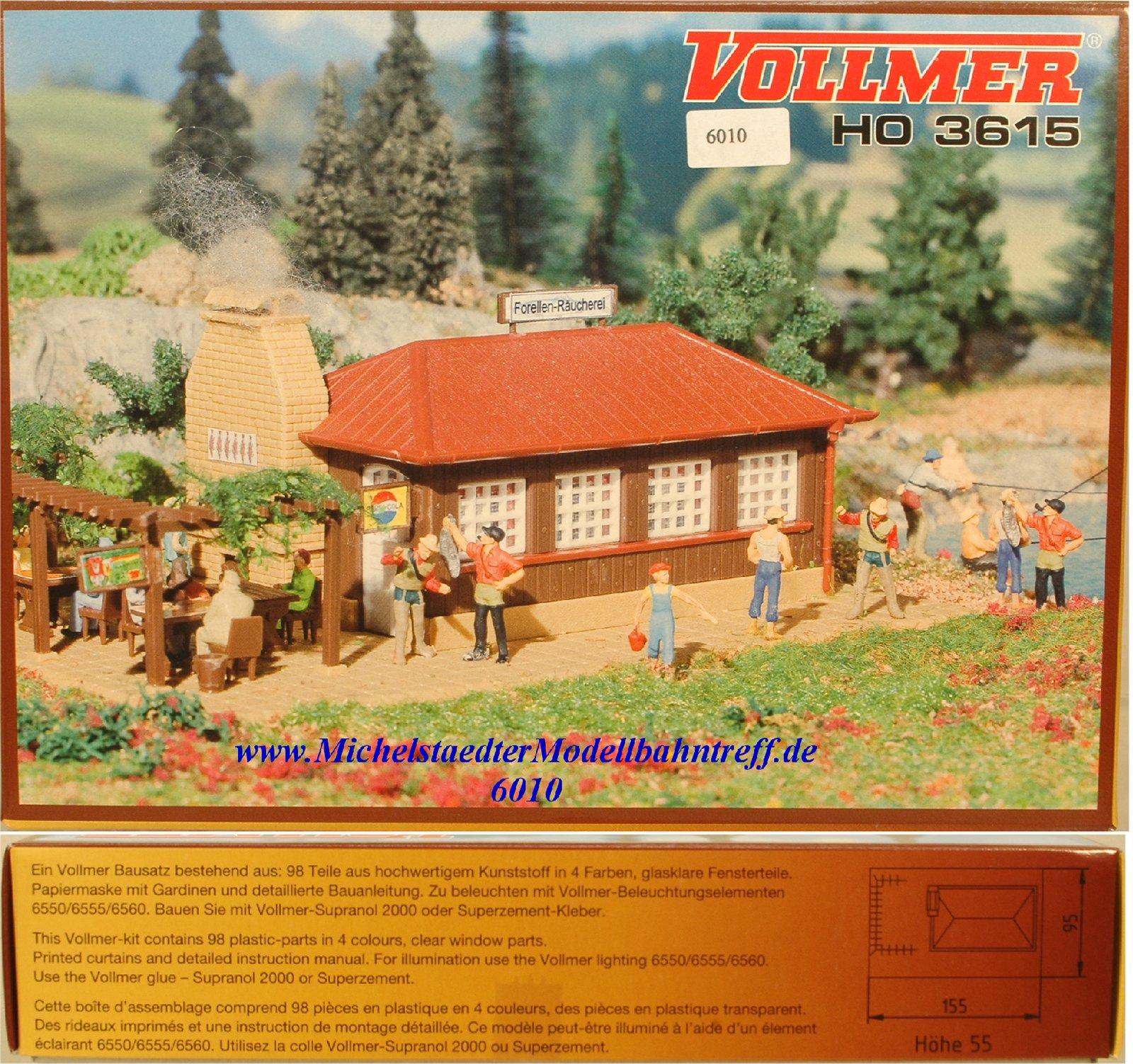 """(Neu) Vollmer H0 3615 Bausatz """"Forellen-Räucherei"""", (6010)"""