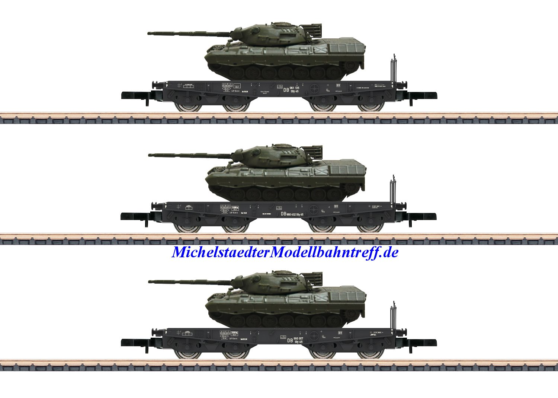 (Neu) Märklin Spur Z 82229 Schwerlastwagen-Set DB Ep.III,