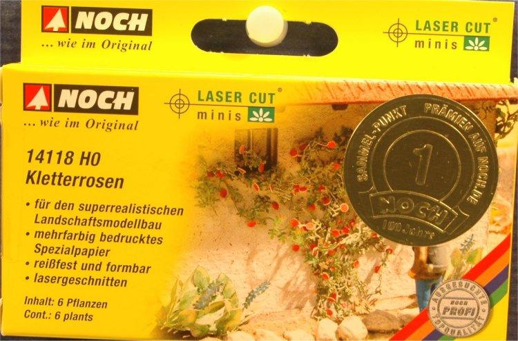 6 Pflanzen NOCH 14118 Spur H0 Kletterrosen Neu Laser-Cut minis
