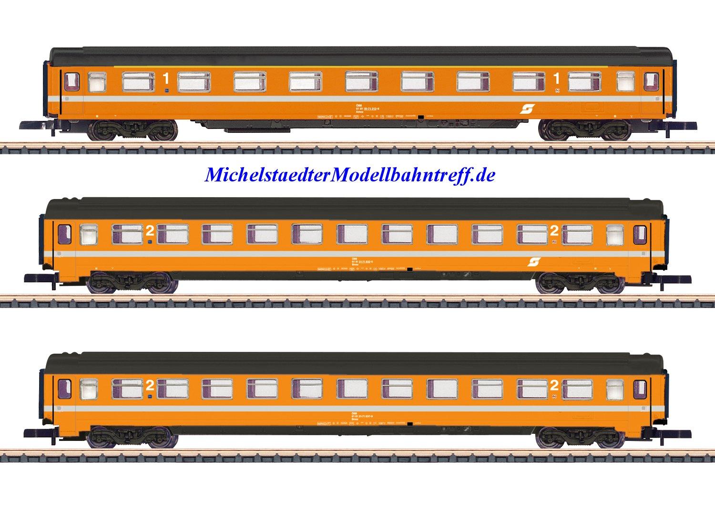 (Neu) Märklin Spur Z 87343 Wagenset Eurofima ÖBB Ep IV,