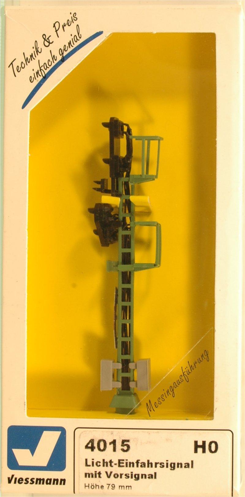 (Neu) Viessmann 4015 Licht-Einfahrsignal mit Vorsignal,
