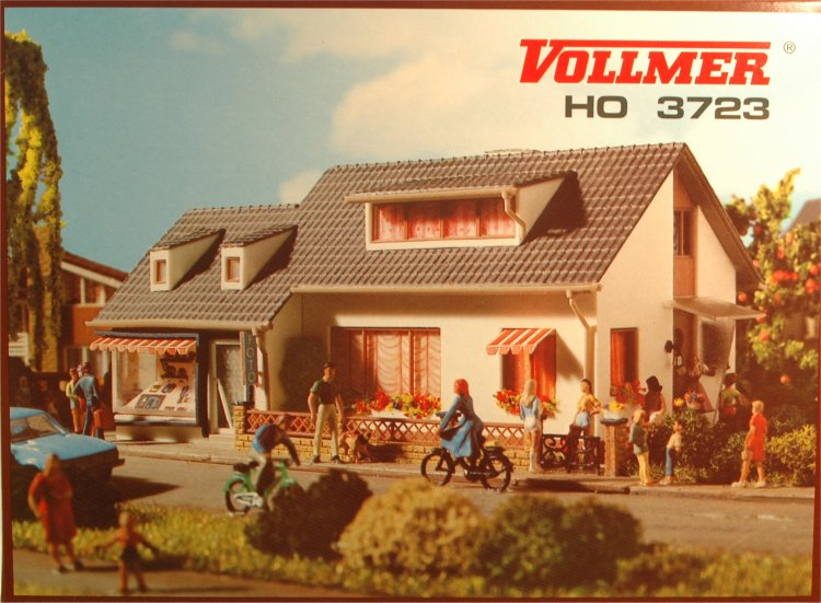 (Neu) Vollmer 3723 H0 Wohnhaus mit Laden,