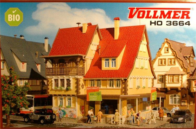 "(Neu) Vollmer 3664 H0 Bio-Supermarkt ""Naturgut"","