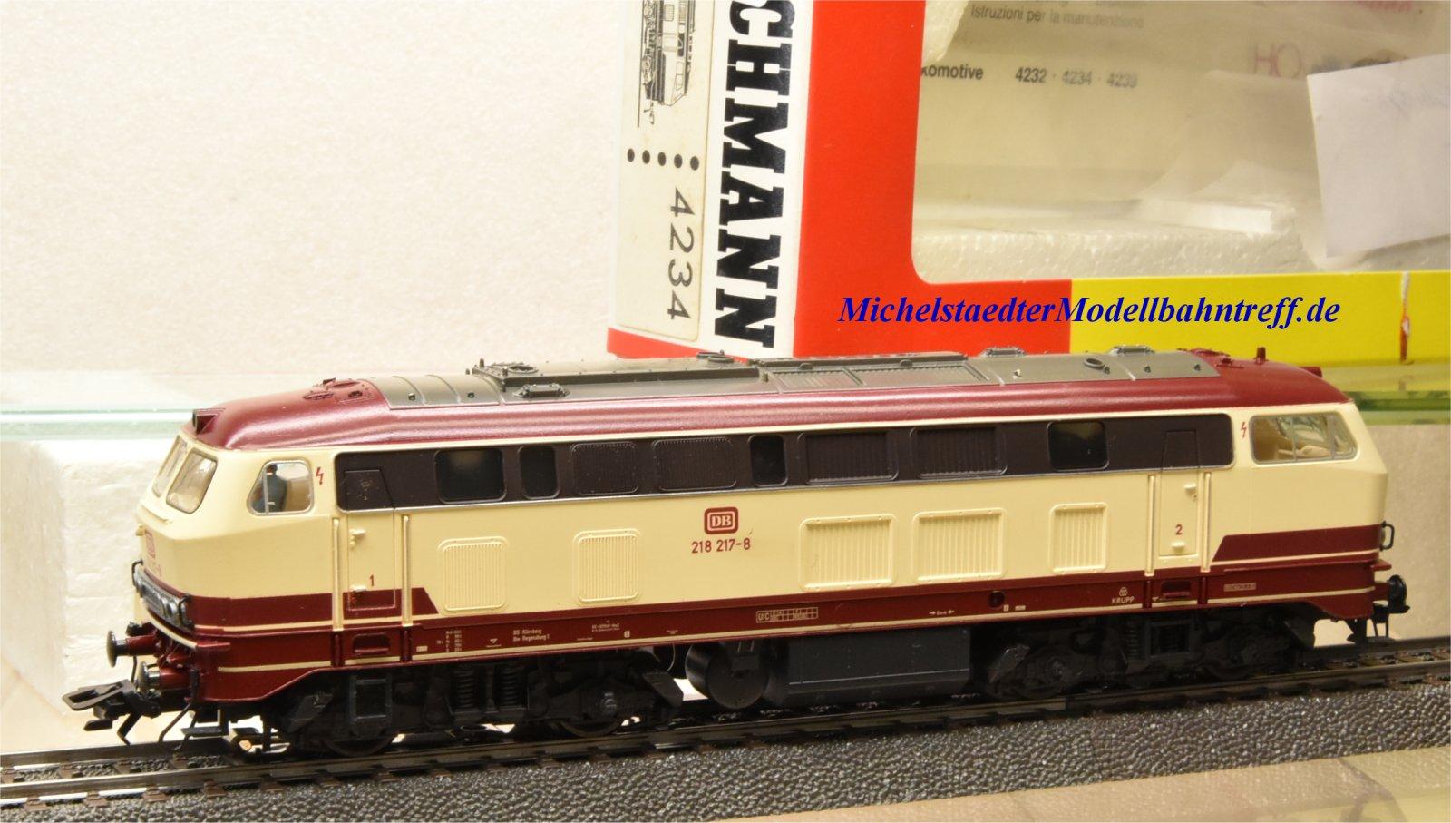 Fleischmann 4234 Diesellok Baureihe 218 217-8 DB Spur H0 OVP