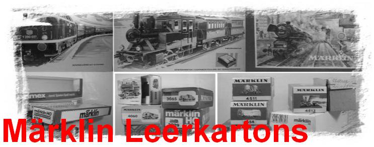 Märklin Leerkartons