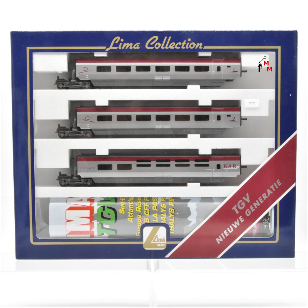 """Lima 149892 Ergänzugswagen-Set 1 zum TGV """"Thalys"""", Gleichstrom, (23326)"""