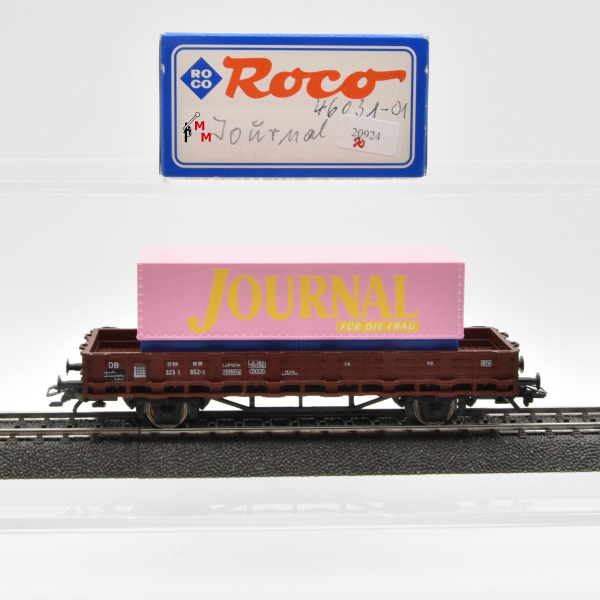 """Roco 46031-01 Rungenwagen der DB mit Wechselpritsche """"Journal"""", (20924)"""