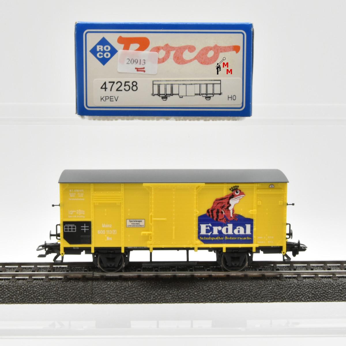 """Roco 47258 Flachdachwagen """"Erdal"""", (20913)"""